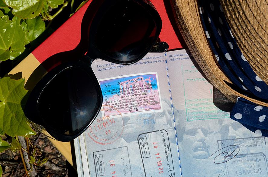 books, hats and passport