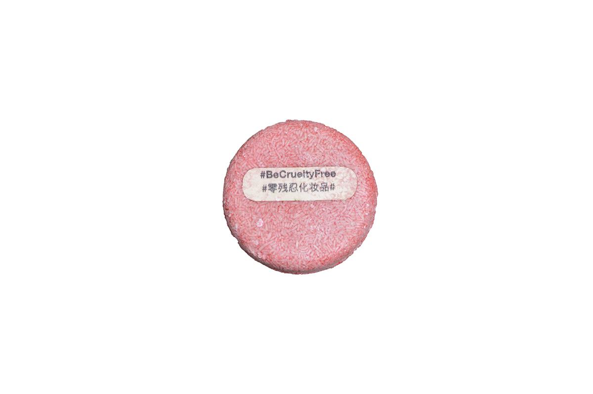 pink shampoo bar