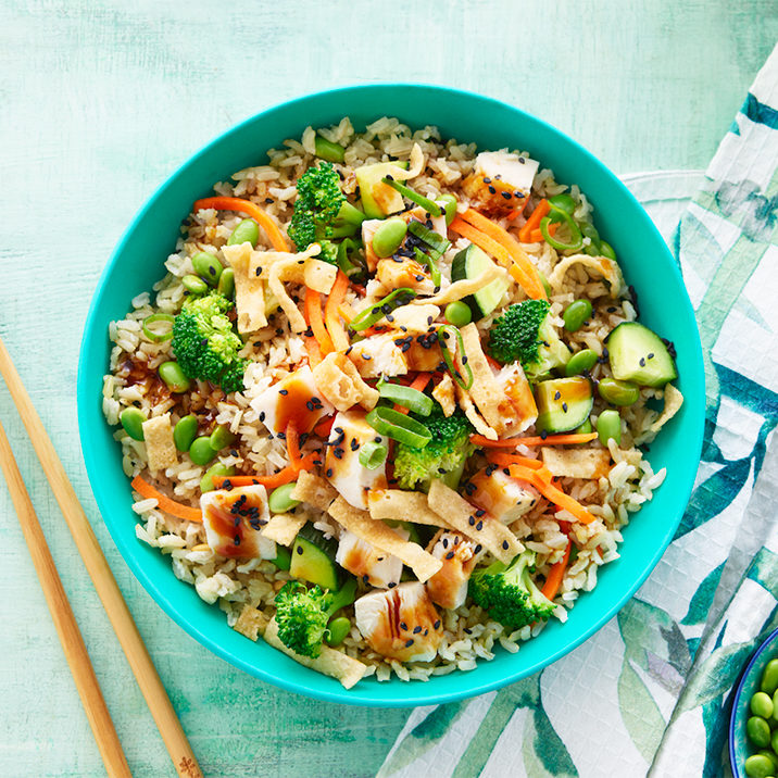 Vegan teriyaki bowl