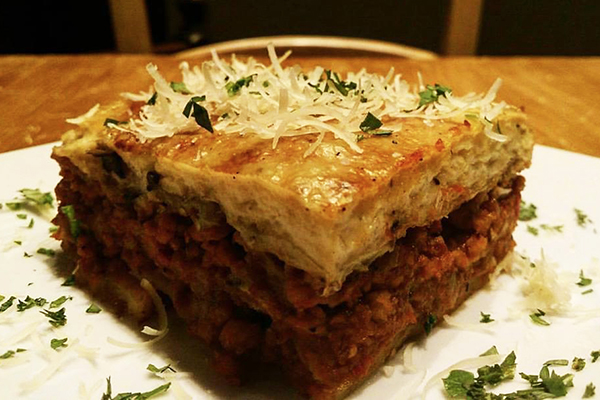 plate of Moussaka