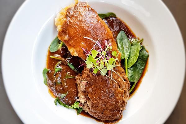 vegan haggis on a plate
