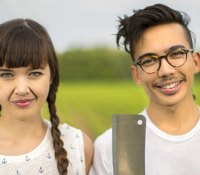 brother and sister vegan butcher team