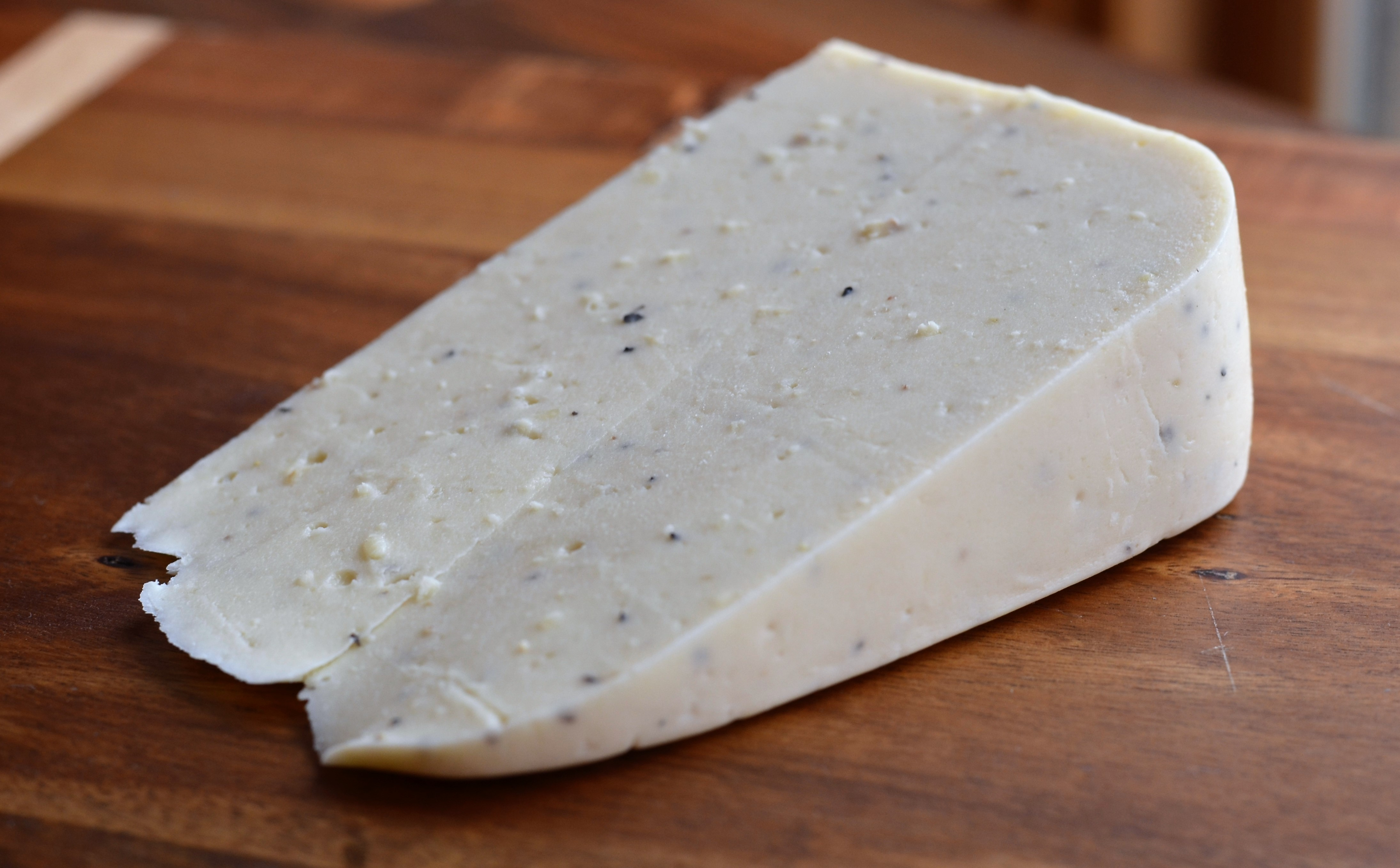 a block of vegan havarti cheese