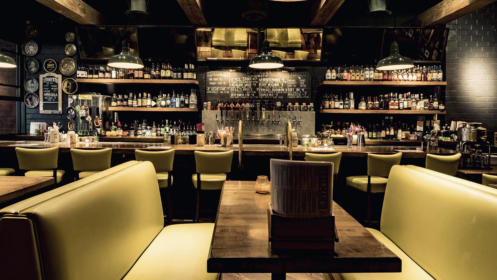 interior shot of Beelman's restaurant
